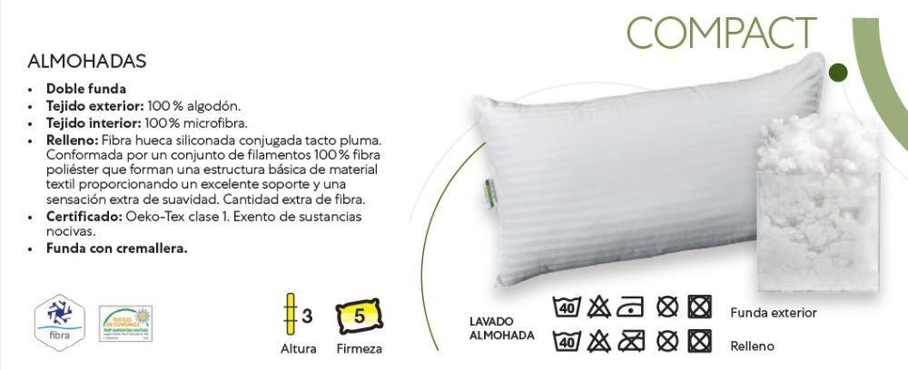 Almohada Fibra Compact