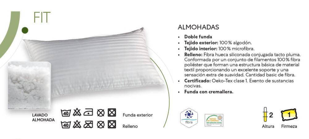 Almohada Fibra Fit