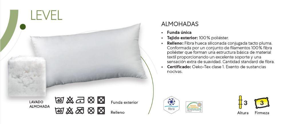 Almohada Fibra Level