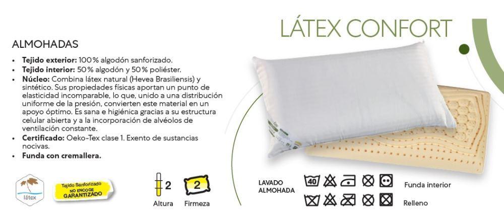 Almohada Látex Confort