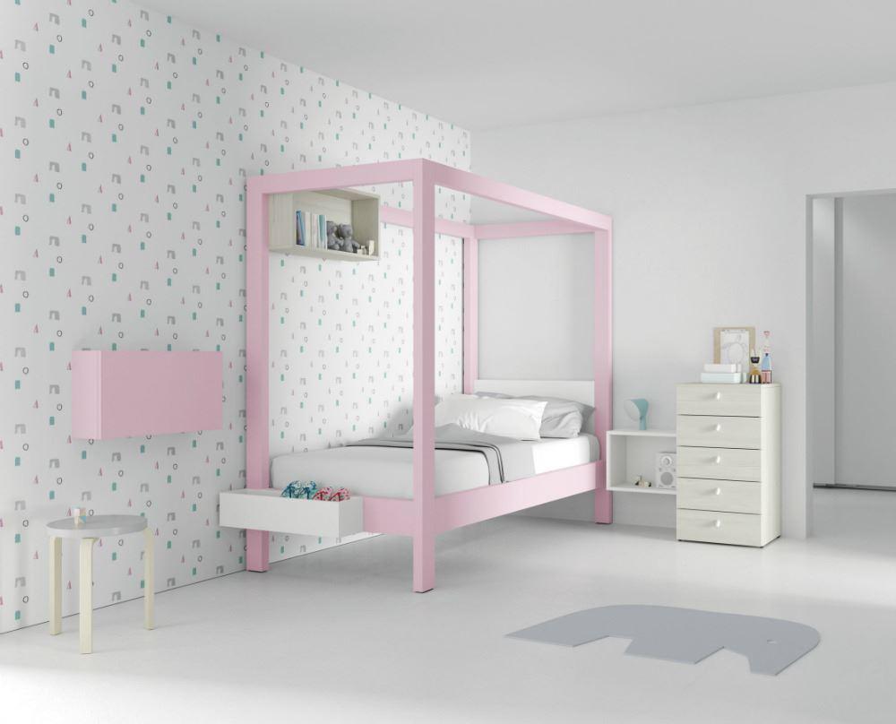 Dormitorio Juvenil con dosel Canopy.